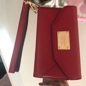 Accessories - Red Michael kors phone wallet